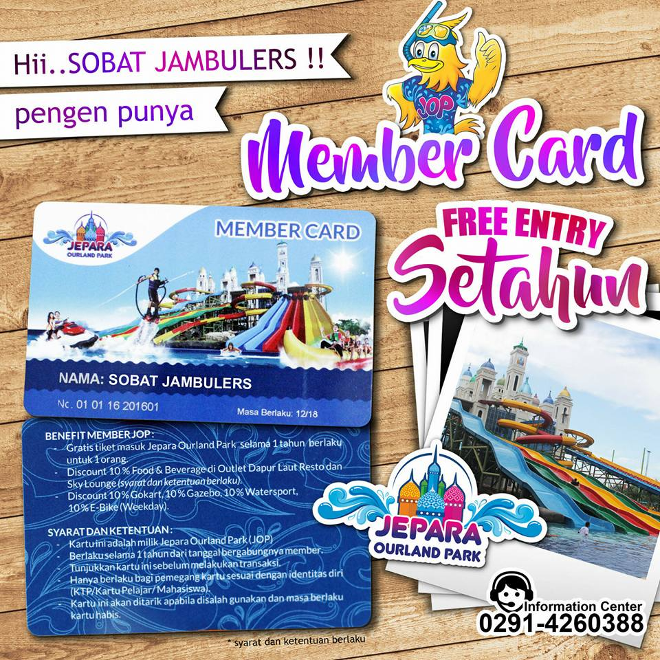 Member Card Jepara Ourland park
