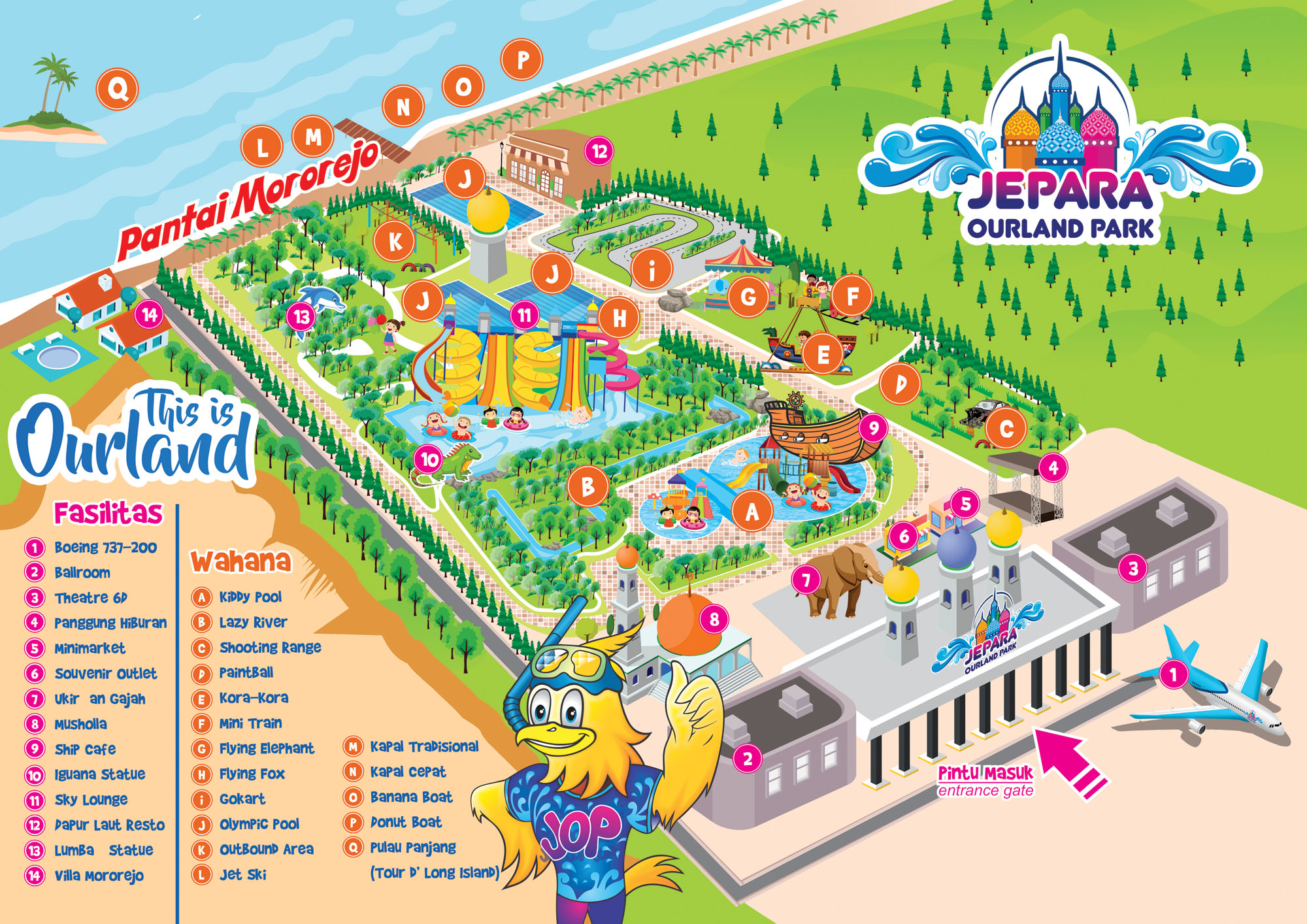 Mini Map Jepara Ourland Park