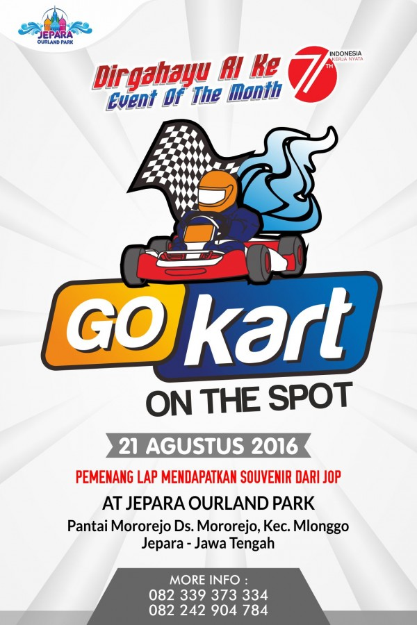 Dirgahayu RI ke 71 GoKart On The Spot At Jepara Ourland Park