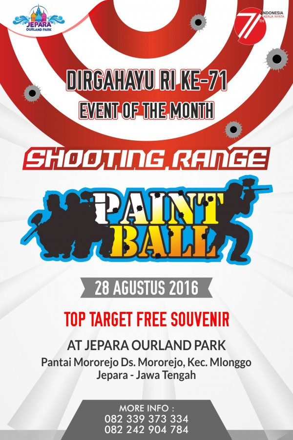 Dirgahayu RI Ke-71 Shooting Range PaintBall At Jepara Ourland Park