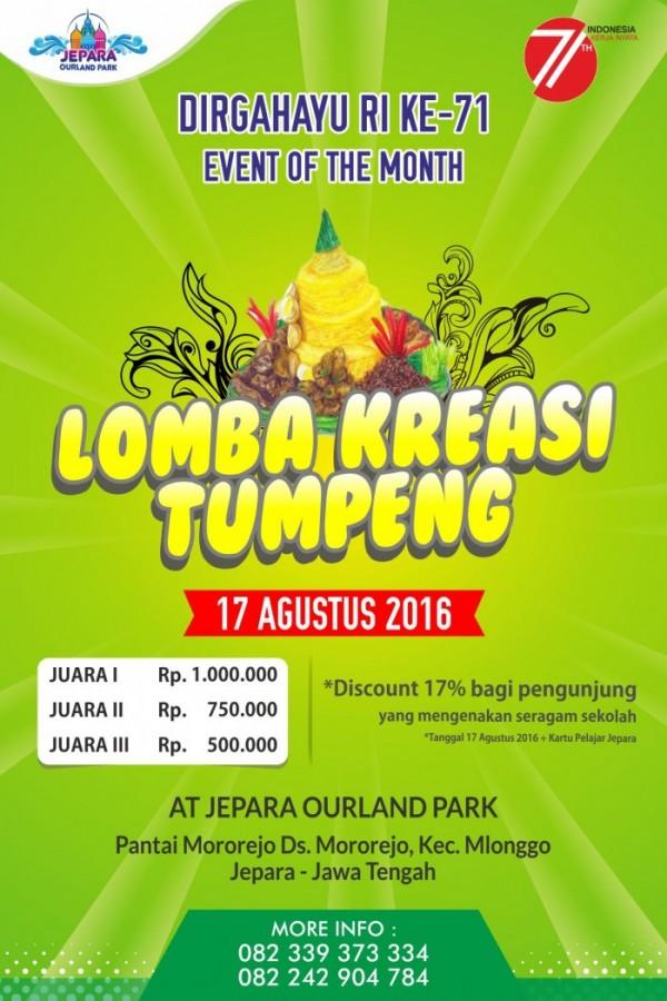 Lomba Kreasi Tumpeng At Jepara Ourland Park